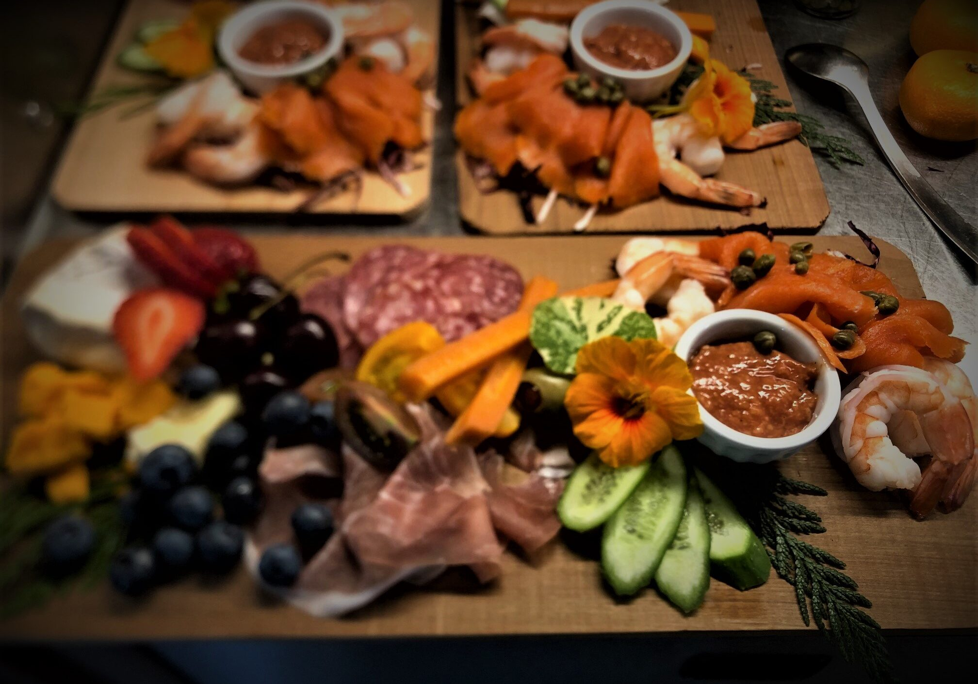 Lunch time charcuterie boards.